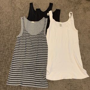 Bundle (4) JCREW ribbed tanks - S